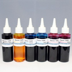 Epson Stylus Photo 1400 24Oz 6color DYE Ink Set - T0791, T0792, T0793, T0794, T0795, T0796
