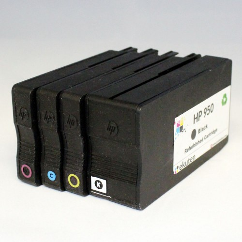 HP 950, 951 Regular Refurbished 4 Color Cartridges Pack