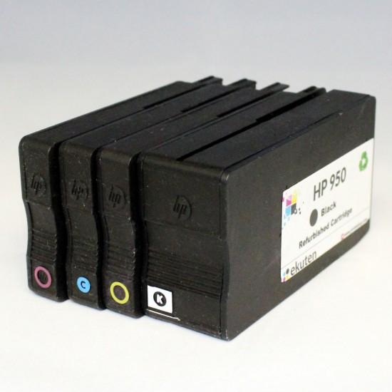 HP 950, 951 Regular Refurbished 4 Color Cartridges Pack
