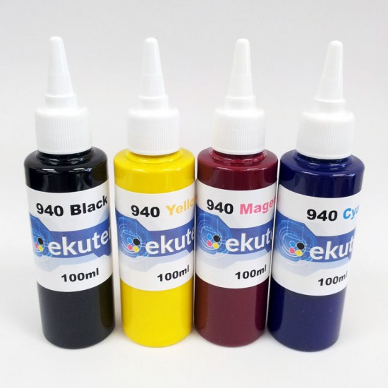 ekuten 400ml Refill Ink for HP 940 940XL Cartridges and CISS - Pigment ink