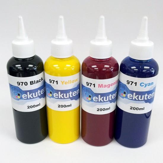Refill 800ml Pigment ink for HP 970 971 970XL 971XL Cartridges and CISS - HP Officejet Pro X451dn, 451dw, 476dn, 476dw