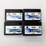 HP 950XL, 951XL Refurbished 4 Color Cartridges Pack