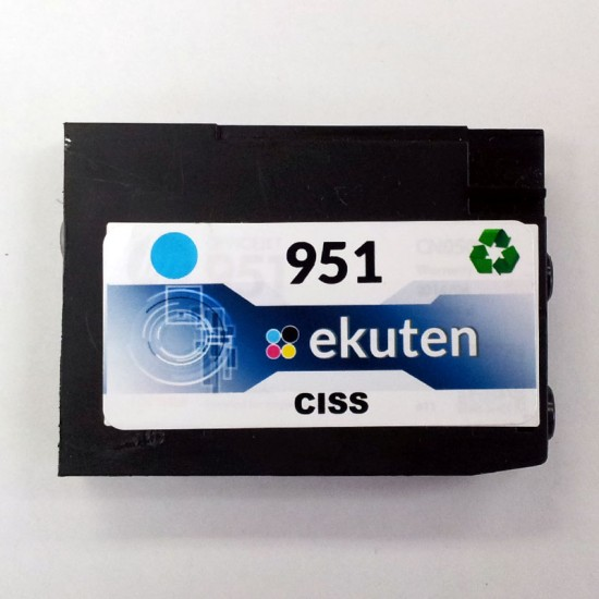 HP 950, 951 CISS Replacement Cyan Cartridge