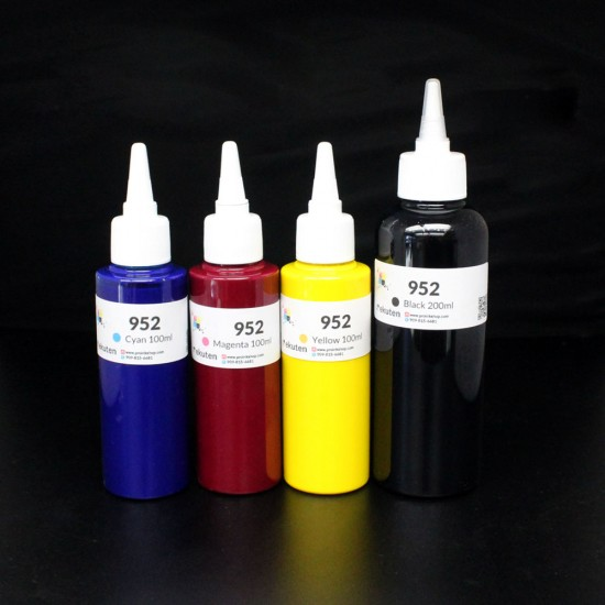 Refill Kit for HP 952 952XL Genuine ink cartirdge with 500ml clogging free premium pigment ink