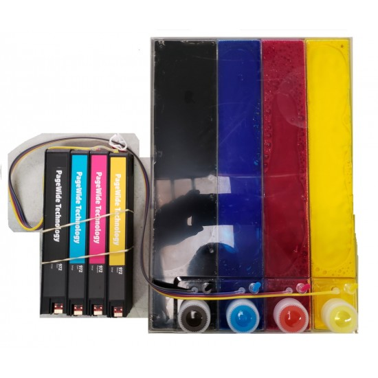 CISS ink system 972 972X cartridge for HP genuine pagewide Pro 477DW 577DW