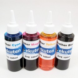 Refill 100ml 4 color for Brother Ink Cartirdges and CISS - UV DYE Ink Set