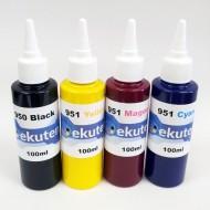 ekuten 400ml Refill Ink for HP 950 950XL 951 951XL Cartridges and CISS - Pigment ink