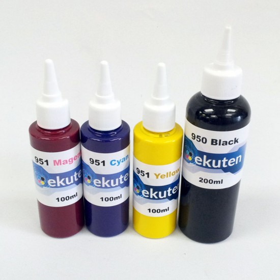 ekuten 500ml Refill Ink for HP 950 950XL 951 951XL Cartridges and CISS - Pigment ink