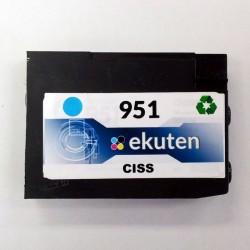 HP 950, 951 CISS Replacement Cyan Cartridge